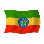 Postal de la bandera de Etiopía