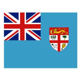 Postal de la bandera de Fiji