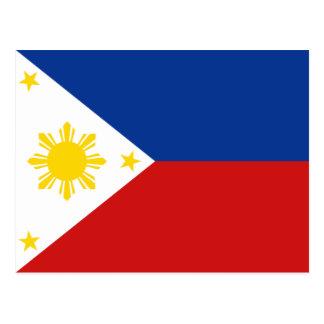 Postal de la bandera de Filipinas