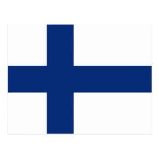 Postal de la bandera de Finlandia
