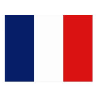 Postal de la bandera de Francia