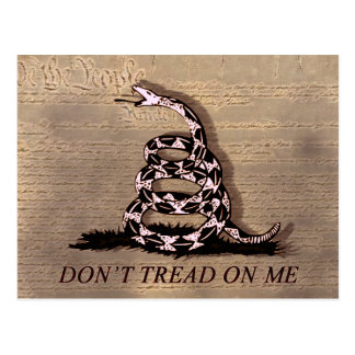 Postal de la bandera de Gadsden
