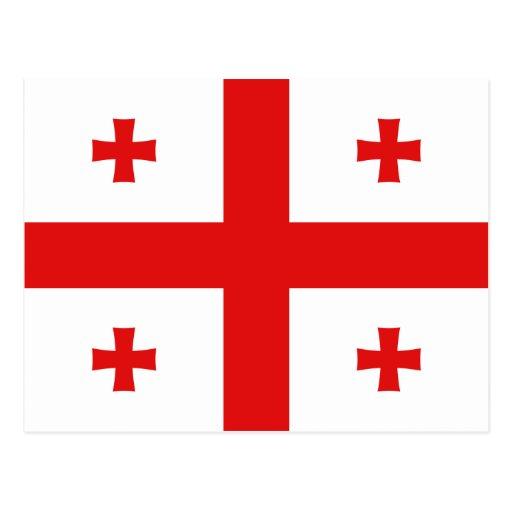 Postal de la bandera de Georgia