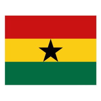 Postal de la bandera de Ghana