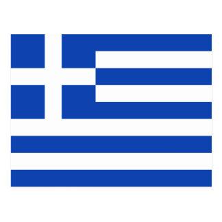 Postal de la bandera de Grecia