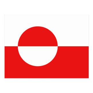 Postal de la bandera de Groenlandia