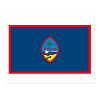 Postal de la bandera de Guam