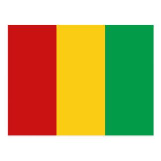Postal de la bandera de Guinea-Conakry