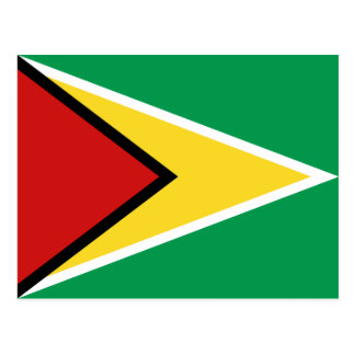 Postal de la bandera de Guyana