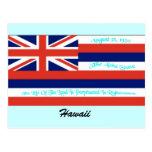 Postal de la bandera de Hawaii