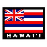 Postal de la bandera de Hawai'i