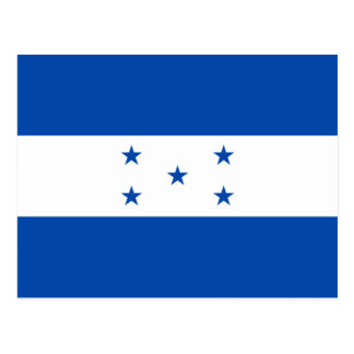 Postal de la bandera de Honduras
