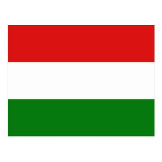 Postal de la bandera de Hungría