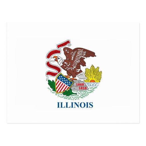 Postal de la bandera de Illinois