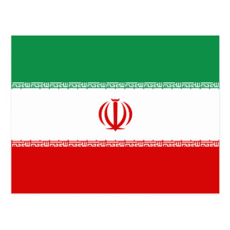 Postal de la bandera de Irán