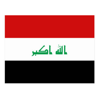 Postal de la bandera de Iraq