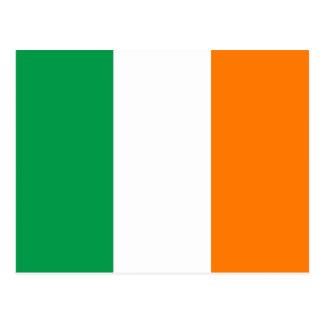 Postal de la bandera de Irlanda