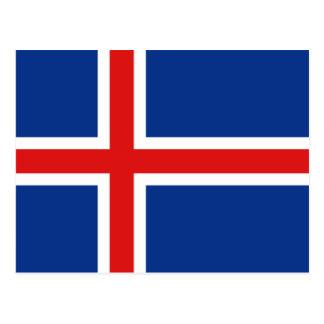 Postal de la bandera de Islandia