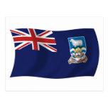 Postal de la bandera de Islas Malvinas
