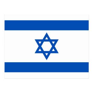 Postal de la bandera de Israel
