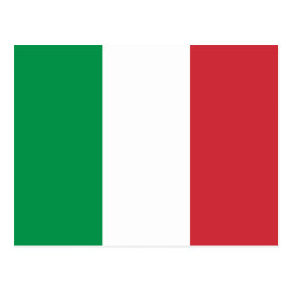 Postal de la bandera de Italia