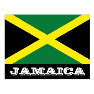 Postal de la bandera de Jamaica
