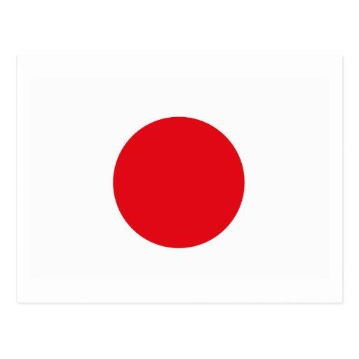 Postal de la bandera de Japón