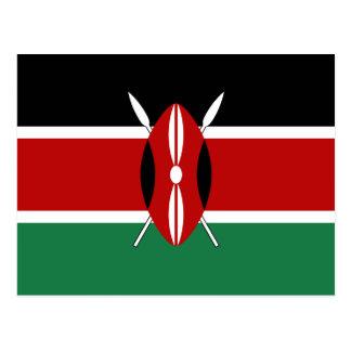 Postal de la bandera de Kenia