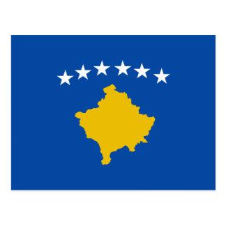 Postal de la bandera de Kosovo