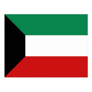 Postal de la bandera de Kuwait