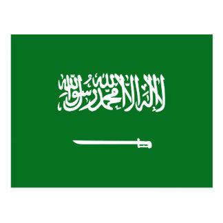 Postal de la bandera de la Arabia Saudita