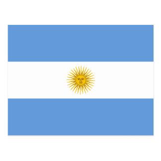 Postal de la bandera de la Argentina