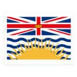 Postal de la bandera de la Columbia Británica