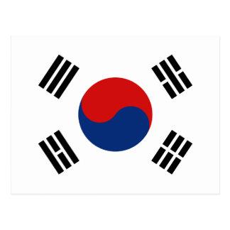 Postal de la bandera de la Corea del Sur