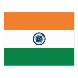 Postal de la bandera de la India