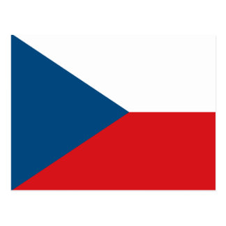 Postal de la bandera de la República Checa