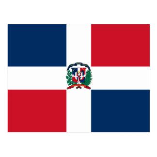 Postal de la bandera de la República Dominicana
