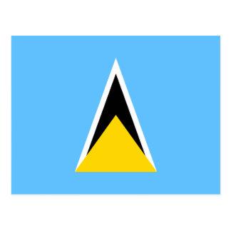 Postal de la bandera de la Santa Lucía