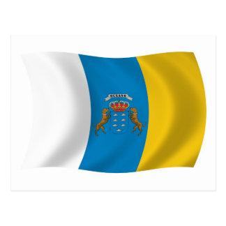Postal de la bandera de las islas Canarias