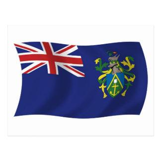 Postal de la bandera de las islas de Pitcairn