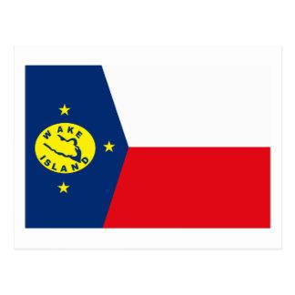 Postal de la bandera de las islas Wake