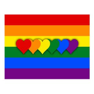 Postal de la bandera de LGBT