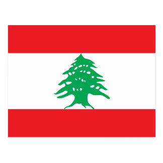 Postal de la bandera de Líbano