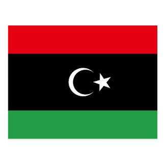 Postal de la bandera de Libia