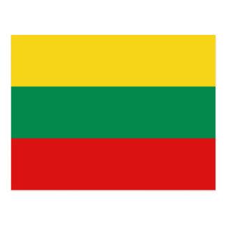 Postal de la bandera de Lituania