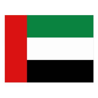 Postal de la bandera de los UAE