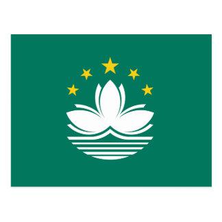 Postal de la bandera de Macao