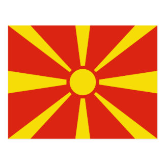Postal de la bandera de Macedonia