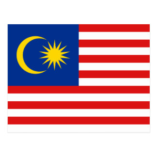 Postal de la bandera de Malasia