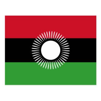 Postal de la bandera de Malawi